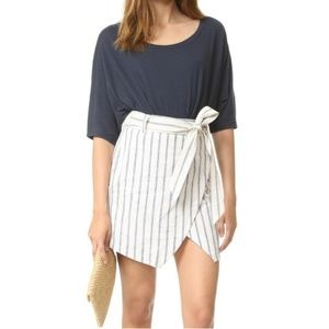 Madewell | Portside Asymmetrical Striped Skirt